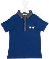 Fendi eyes print polo shirt - kids - Cotton - 8 yrs