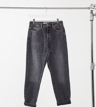 Topshop Petite mom jeans in washed black