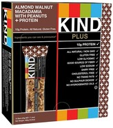 Kind Almond Walnut Macadamia with Peanuts + Protein Nutrition Bars - 12 Count
