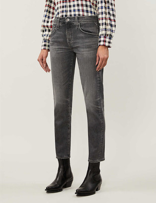 AG Jeans Ex-Boyfriend slouchy slim-fit high-rise jeans
