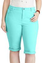 Chaps Plus Stretch Cotton Five-Pocket Short
