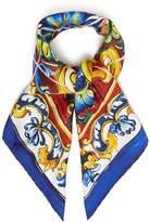 Dolce & Gabbana Tile-print silk-twill scarf