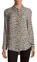 Equipment Leopard Silk Button-Down Shirt