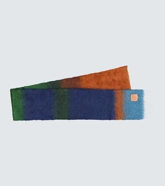 Loewe Mohair-blend striped scarf