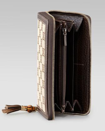 Gucci Tassel Original GG Zip-Around Wallet