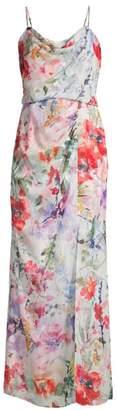 Parker Black Delphine Floral Chiffon Maxi Dress