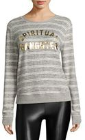 Spiritual Gangster Savasana Striped Graphic Printed Top