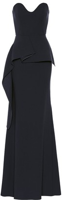 Roland Mouret Bond wool crepe gown