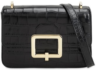 Bally JANELLE CROC EMBOSSED LEATHER BAG