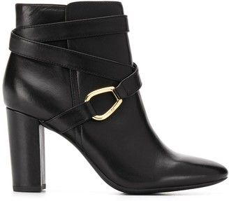 Lauren Ralph Lauren Cross Strap Ankle Boots