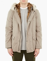 Yves Salomon Khaki Rabbit-fur Lined Parka