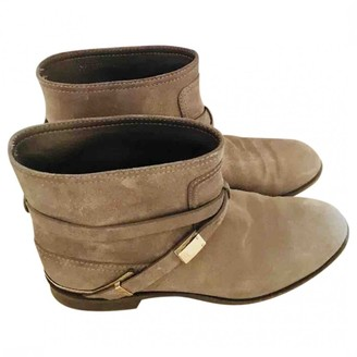 Christian Dior Khaki Suede Ankle boots