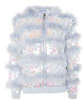 Topshop Sequin Feather Jacket