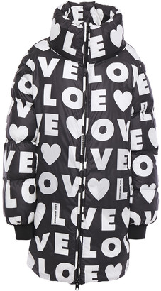 Love Moschino Printed Quilted Shell Coat
