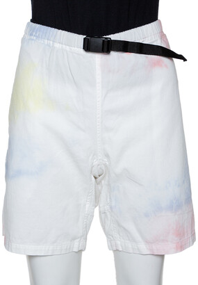 John Elliott Multicolor Ink Bloom Tie Dye Cotton Mountain Shorts S
