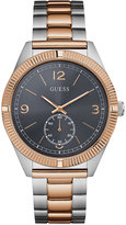 GUESS Men's Chronograph York Two-Tone Stainless Steel Bracelet Watch 42mm U0872G2