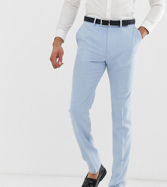 Blue Cross ASOS DESIGN Tall wedding skinny suit trousers in hatch