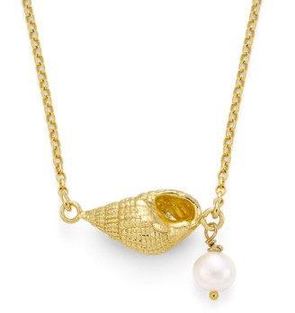 Harry Rocks Lago Shell Necklace With Pearl