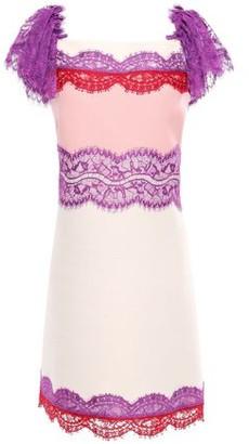 Emilio Pucci Lace-paneled Wool And Silk-blend Mini Dress