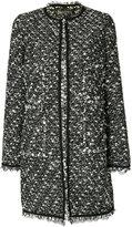 Giambattista Valli lace trim tweed coat