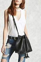 Forever 21 Faux Leather Tassel Bucket Bag