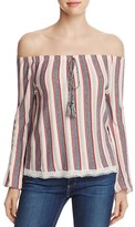 Vero Moda Amari Off-the-Shoulder Stripe Top