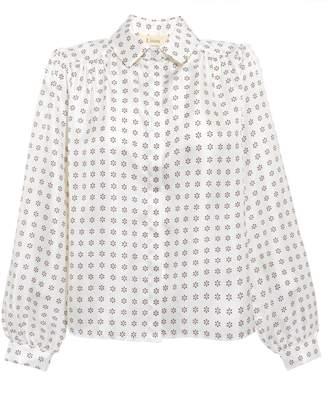 Eliza J Lisou Comet Print Silk Shirt