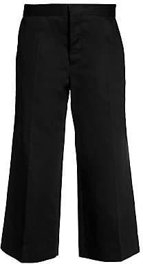 Marni Women's Wide Leg Cropped Drill Pants