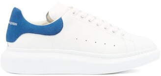 Alexander McQueen Raised-sole Leather Trainers - Mens - White Multi