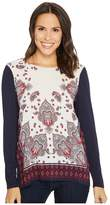 Tribal Long Sleeve Printed Combo Front Top Women's Long Sleeve Pullover