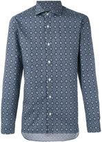 Z Zegna tiled pattern shirt - men - Cotton - 39