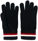 Moncler striped trim gloves - men - Virgin Wool - M