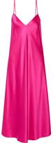 Ellery Technopriest Silk-satin Midi Dress - Fuchsia