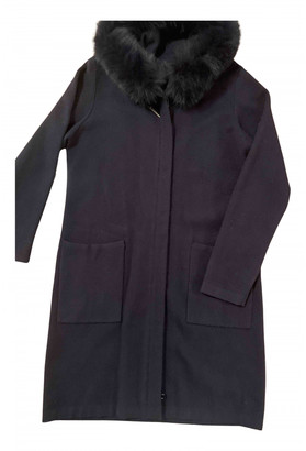 Hotel Particulier Navy Viscose Coats