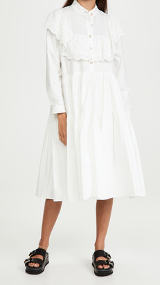 Sister Jane Doily Ruffle Midi Dress