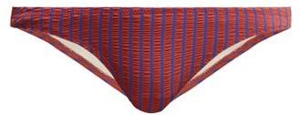 Solid & Striped The Paloma Bikini Briefs - Womens - Red Stripe