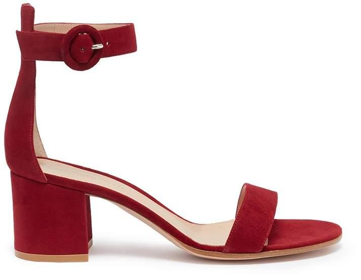 Gianvito Rossi 'Versilia' ankle strap suede sandals