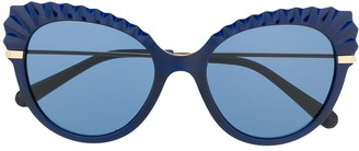 Dolce & Gabbana Eyewear Cat-Eye Frames With Crystal-Cut Detail