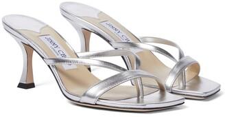 Jimmy Choo Maelie 70 metallic sandals