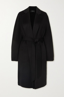 Joseph Cenda Belted Wool And Cashmere-blend Coat - Black