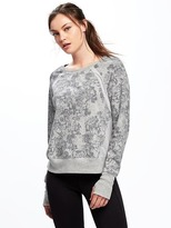 Old Navy Go-Dry Mesh-Trim Sweatshirt for Women