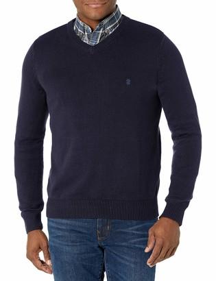 Izod Men's Fit Premium Essentials Solid V-Neck 7 Gauge Sweater