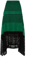 Proenza Schouler Open Stitch Midi Skirt with Handkerchief Hem