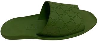 Gucci Green Plastic Sandals