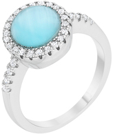 Kate Bissett Blue Cat's Eye & Cubic Zirconia Patricia Ring