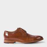 Paul Smith Men's Tan Leather 'Talbot' Brogues With Travel Soles