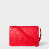 Paul Smith No.9 - Women's Red Leather Double Flap Handbag