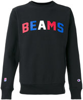 Champion x Beams print sweatshirt - men - Cotton/Polyester - XL