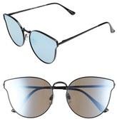 Quay Women's 'All My Love' 60Mm Retro Sunglasses - Black/ Purple Mirror