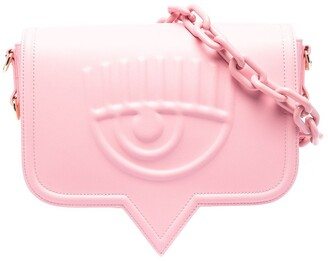 Chiara Ferragni Eyelike leather shoulder bag
